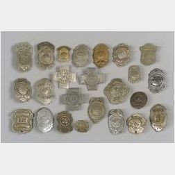 Fifty Metal Firefighter's Badges