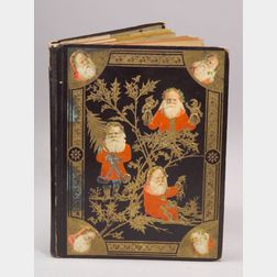Trade Card Album with Embossed Santas on Cover