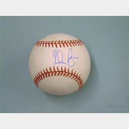 Nolan Ryan Autographed Baseball.