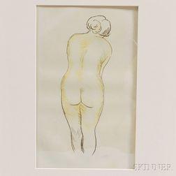 Aristide Maillol (French, 1861-1944)      Femme Nue Vue de Dos.