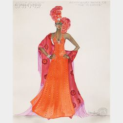 Randy Barceló (Cuban/American, 1946-1994)      Costume Design for Judith Jamison as Bessie Smith   in The Mooche