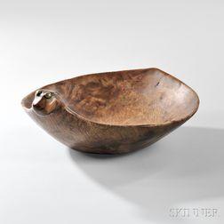 Rare Omaha Carved Wood Effigy Bowl