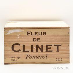 Fleur de Clinet 2010, 6 bottles (owc)