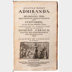 Sandrart, Joachim de (1606-1688) Sculpturae Veteris Admiranda.