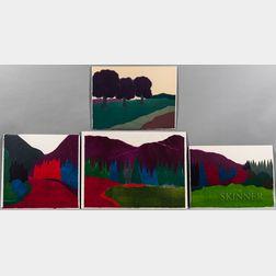 Four Richard Kemble Woodcuts