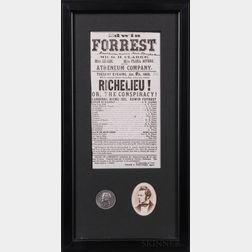 Forrest, Edwin (1806-1872) Three Items.