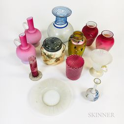 Twelve Pieces of Art Glass