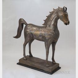 Monumental Damascened Horse