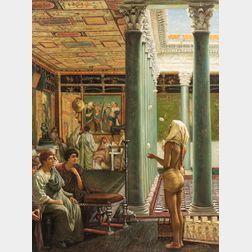 American/European School, 20th Century      Orientalist Interior with Juggler.