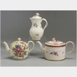 Three Wedgwood Creamware Covered Pots