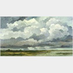 Eric Sloane (American, 1905-1985)  Shore Sky