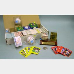 Collection of Baseball Cards, Facsimile Autographed Baseballs, and Commemorative   Items