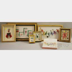 Cécile Dreesmann (Dutch, 1920-1994)      Six Deco-style Works: The Red Lady