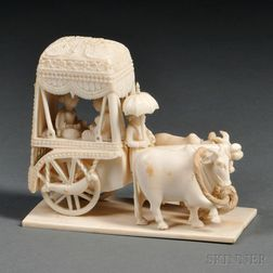 Ivory Carving of a Cart