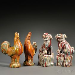 Two Pairs of Porcelain Animals
