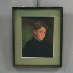 Attributed to Gardner Cox (American, 1906-1988)      Portrait of a Boy.