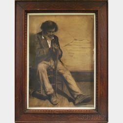 John Meyenberg (American, 1860-1936)      Old Gentleman Seated with Cane