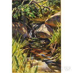MacIvor Reddie (American, 1899-1966)      Woodland Brook.