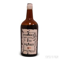 Overholt Rye Whiskey 1909, 1 4/5 quart bottle