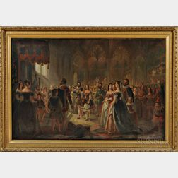 Anglo-American School, 19th Century      Presentation of Pocahontas to the Court of King James