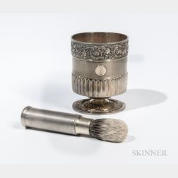 Matched George III/IV Sterling Silver-gilt Shaving Set