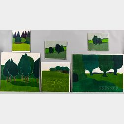 Six Richard Kemble Woodcuts