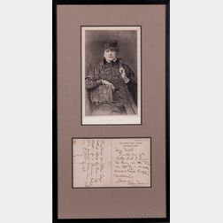 Actor Photographs and Signed Letters, Six Items.