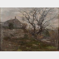 Attributed to John Joseph Enneking (American, 1841-1916)      After the Leaves Have Gone