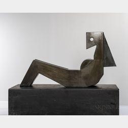 Rod Kagan (American, 1940-2010) Reclining Lady 2   Bronze Sculpture