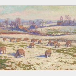 William Samuel Horton (American, 1865-1936)  The Pasture