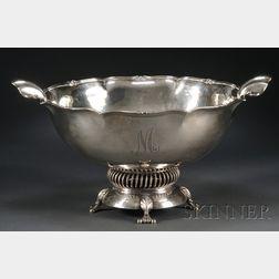 Arts & Crafts/Modernist Sterling Punch Bowl