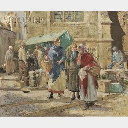 William Lee Hankey (British, 1869-1950)      Market Gossip
