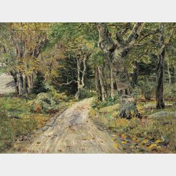 Edward Parker Hayden (American, 1858-1922)      Road Through the Trees