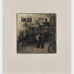 Gregory Joseph Gillespie (American, 1936-2000)      Double Image in Easthampton, Mass., Studio