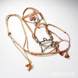 Western Multicolor Hitched Horsehair Bridle