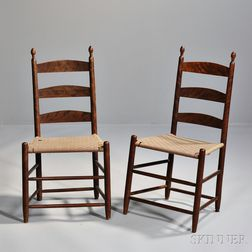 Pair of Birch Shaker Tilter Side Chairs
