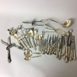 Group of Sterling Silver Flatware and Tableware
