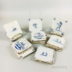 Eighteen Delft Tiles