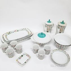 Eighteen Pieces of Rosenthal Porcelain Tableware.     Estimate $200-400