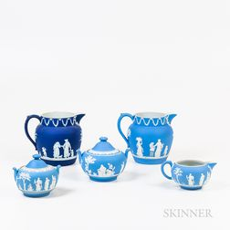 Five Wedgwood Blue Jasper Items