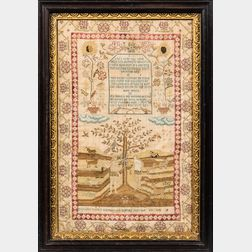 "Needlework ""Adam and Eve"" Sampler"