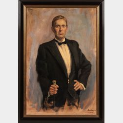 William Kalwick Jr. (American, b. 1960)      Portrait of Carl Crossman in Formal Attire.
