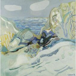 Gabriel Godard (French, b. 1933)  Bord de Mer