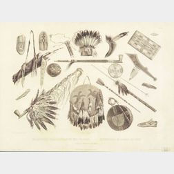 Framed Black and White Print by Karl Bodmer