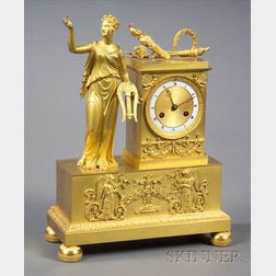 French Gilt Neoclassical Mantel Clock
