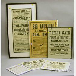 Six Auction Broadsides and Prints