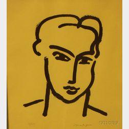 After Henri Matisse (French, 1869-1954)      Grande tete de Katia.