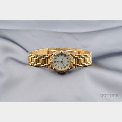 Lady's 18kt Gold and Diamond Wristwatch, Concord