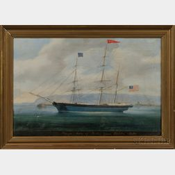 American School, 19th Century       Portrait of the Barque Mary   of Boston
