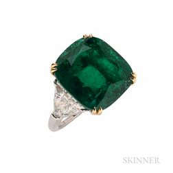 Pederzani Emerald and Diamond Ring